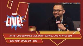 Marvel artist Joe Quinonestalks cosplay and Spider-Man at NYCC 2018!