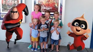 KIDS REACTION TO DISNEY INCREDIBLES 2!