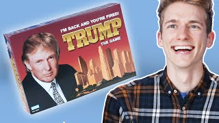 Board Game Lovers Play The Trump Board Game