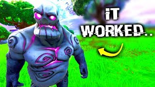 I Glitched A Zombie Friendly In Retail Row.. (Fortnite)