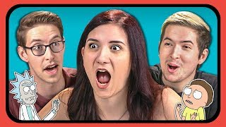 YouTubers React To Rick And Morty Anime