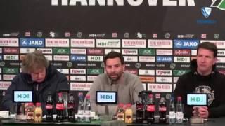 Die Pressekonferenz nach der Partie Hannover 96 - VfL Bochum 1848