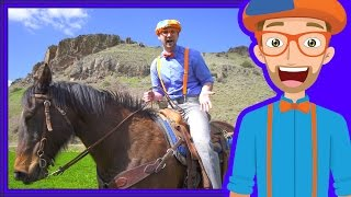 A Day On The Ranch for Kids | Blippi Axe Family | Videos for Children