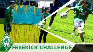 Freistoß Challenge Finale: Zlatko Junuzovic | Thomas Delaney | Niklas Schmidt | Loui Eta (EN Subs)