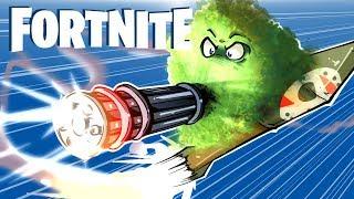 FORTNITE BR - Minigun Rocket Ride, Shark Attack, Fails And Traps! (Funny Moments)