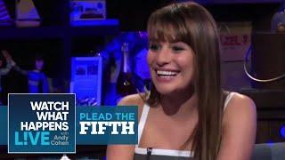 How is Matthew Morrison in Bed? - Lea Michele Pleads the Fifth | WWHL