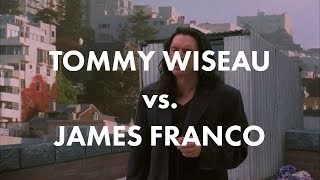 """Tommy Wiseau in The Room vs. James Franco in The Disaster Artist (""""I did not hit her """" scene)"""