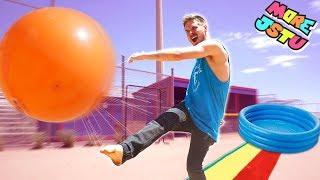 EPIC SLIP AND SLIDE KICKBALL GAME!!