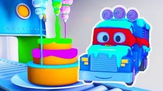 Carl der Transformer Truck und der Eiswagen in Car City | Auto und Lastwagen Bau Cartoons