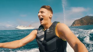 Couples Vacation! 150 ft YACHT Meets 1,200 ft CRUISE SHIP! (Tour)
