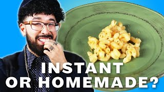 Can You Tell Instant Food Vs. Homemade Food?