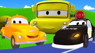 Tom der Abschleppwagen und Matt das Polizeiauto in Autopolis| Lastwagen Bau-Cartoon-Serie für Kinder