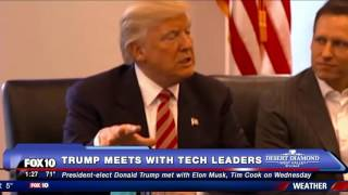 MUST WATCH: Donald Trump Meets with Tech Leaders