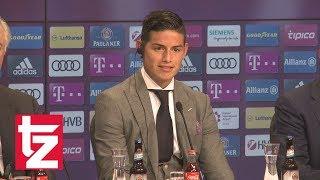 James Rodríguez beim FC Bayern: Neuzugang stellt sich in der Allianz Arena vor