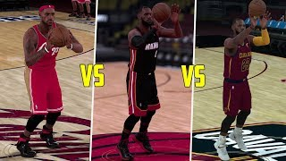 Which Lebron Can Hit A Half Court Shot First? Current, Heat, or Young Lebron? NBA 2K18 Challenge!