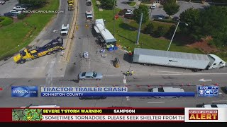 Clayton road reopens hours after truck carrying 17 pallets of vodka flipped