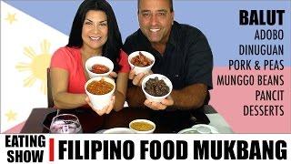 Mabuhay! FILIPINO FOOD MUKBANG EATING SHOW    Not ASMR