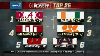 College Football Playoff: Top 25 | (11/21/17)