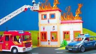 PLAYMOBIL Film deutsch: Playmobil Feuerwehrmannn, Kita, Polizei, Schule, KLO Kinderfilm Kinderserie
