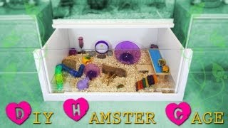 How to build a DIY hamster cage! *Instructions*