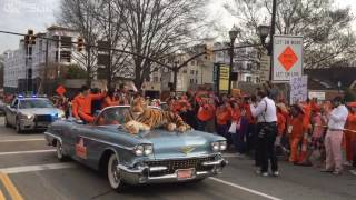 Dabo Swinney and Deshaun Watson during the National Championship Parade