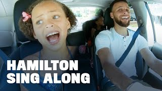 """Stephen Curry Belts Out """"Hamilton"""" with Daughters Riley and Ryan"""