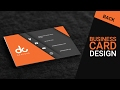 Business card design in photoshop cs6 | ...mp3
