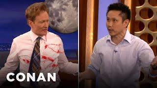 Steven Ho Teaches Conan Defense Against Guns & Knives - CONAN on TBS
