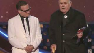 Robin Williams presents an award to Jonathan Winters