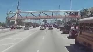 FIU Bridge Collapse Caught on Dash Cam