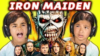 KIDS REACT TO IRON MAIDEN (Metal Music)