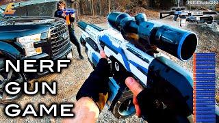 NERF GUN GAME   MODDED MAYHEM 3.0 (Nerf First Person Shooter)