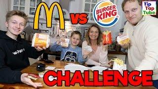 Mc Donalds vs. Burger King - Die FAST FOOD CHALLENGE! TipTapTube