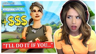 I can't believe he FINALLY agreed to coach me! Pokimane Fortnite Duos!