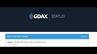 GDAX Starts BCH Trading, Users Angry About Focus