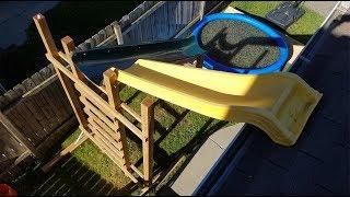 Water Slide + 1 Million Orbeez + Swimming Pool