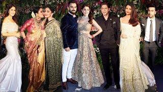 Bollywood At Virat Kohli Anushka Sharma Wedding Reception Mumbai 2017 Complete Full Video HD