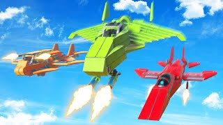 FIGHTER JET BUILD CHALLENGE! (Trailmakers)