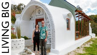Incredible Small Off-Grid  Earthship Home