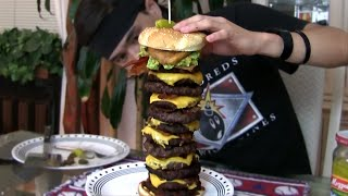 Massive Jalapeño Stuffed Bacon Guacamole Cheeseburger