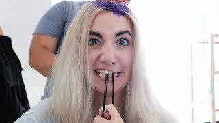 Haare bunt gefärbt - mit Reaktion meiner Familie.
