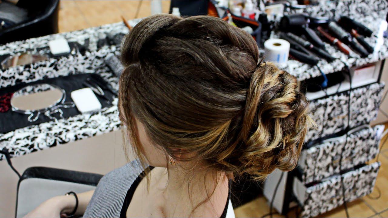 Видео прически на выпускной своими руками на средние волосы