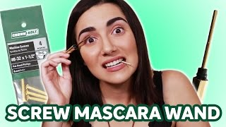 Stainless Steel Mascara Wand vs Screw