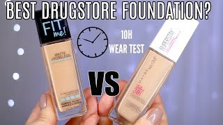 Maybelline Superstay Full Coverage Foundation VS Fit Me Review || Best Drugstore Foundation?