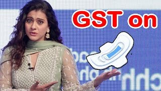 Kajol's SHOCKING Reaction on GST on Sanitary Pads