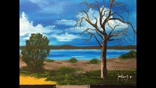 """How to paint a beginners lake""""lake Gnangara"""""""