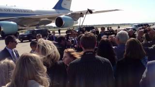 President Obama Arrives at DTW Airport