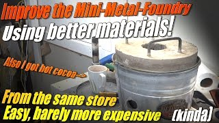 How to Make a Better Mini Metal Foundry for Melting Metal and Stuff!