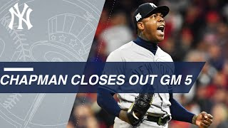 Aroldis Chapman closes out the ALDS