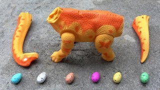 Dinosaur Walking and Laying Eggs Toys Learn Colors & Numbers for Children